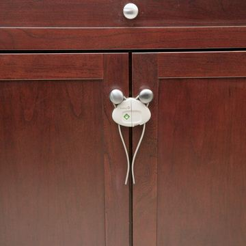 Снимка на Устройство за заключване на шкаф с шнур (1 бр./оп.) – бял цвят - ST-39095760
