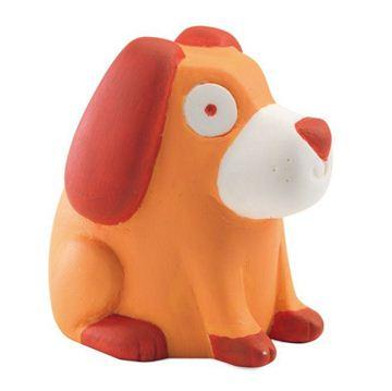 Снимка на Djeco - Детска гумена играчка - Оранжевото кученце