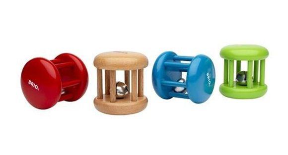 Снимка на Brio - Бебешка дървена дрънкалка Bell Rattle