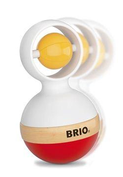 Снимка на Brio - Дървена бебешка дрънкалка неваляшка